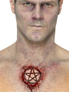 Latex Pentagram Scar