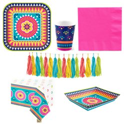 Boho Fiesta Deluxe Party Pack for 8