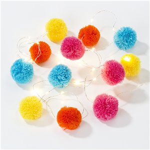 Boho Pom Pom String Lights