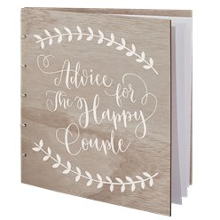 Boho Wooden Advice Book
