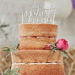 Boho 'Just Married' Wedding Cake Topper