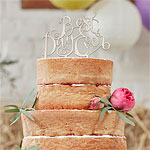 Boho 'Best Day Ever' Wedding Cake Topper