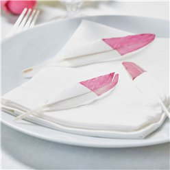 Boho Wedding Pink Dipped Feathers