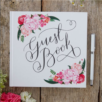Boho Wedding Floral Guest Book