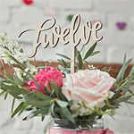 Boho Wooden Wedding Table Numbers