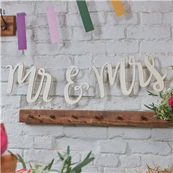 Boho Wedding Wooden Mr & Mrs Bunting - 1.5m