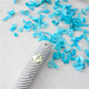 Born To Be Loved Blue Confetti Cannon - 20cm