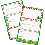 Botanical Christmas Present Labels