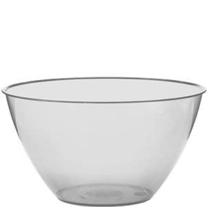 Clear Plastic Swirl Bowl - 680ml