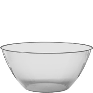 Clear Plastic Serving Bowl - 4.7L