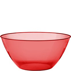 Red Plastic Serving Bowl - 4.7L