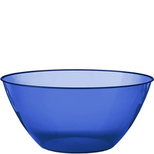 Royal Blue Swirl Bowl - 4.7L Plastic