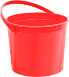 Red Plastic Favour Bucket - 15cm