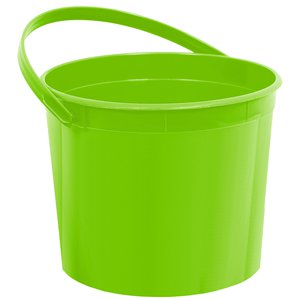 Lime Green Plastic Favour Bucket - 15cm