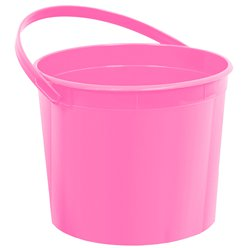 Hot Pink Plastic Favour Bucket - 15cm