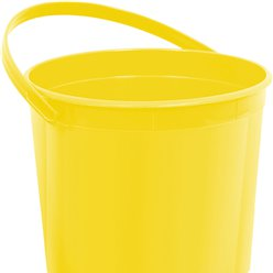 Yellow Plastic Favour Bucket - 15cm