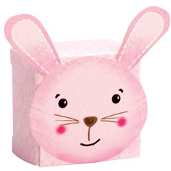 Pink Rabbit Baby Favour Boxes