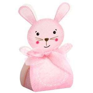 Pink Rabbit Favour Boxes