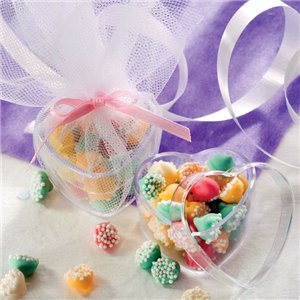 Clear Heart Favour Boxes - 4cm