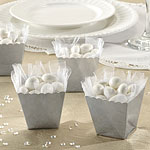 Silver Scallop Favour Boxes - 6cm