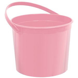 Baby Pink Plastic Favour Bucket - 15cm