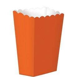 Orange Small Popcorn Boxes - 13cm