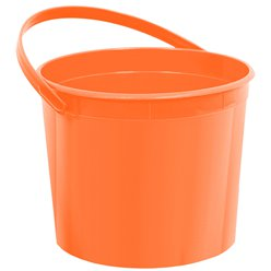 Orange Plastic Favour Bucket - 15cm