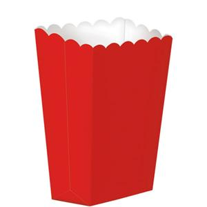 Red Small Popcorn Boxes - 13cm