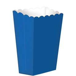 Royal Blue Small Popcorn Boxes - 13cm