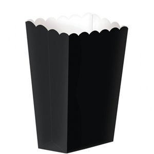 Black Small Popcorn Boxes - 13cm