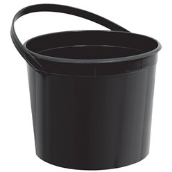 Black Plastic Favour Bucket - 15cm
