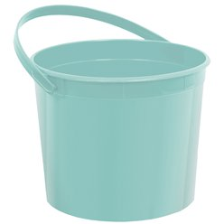 Robins Egg Blue Plastic Favour Bucket - 15cm
