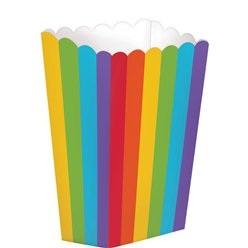 Small Rainbow Popcorn Boxes - 13cm