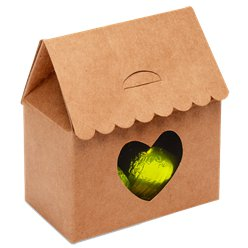 Kraft House With Heart Favour Box - 7cm
