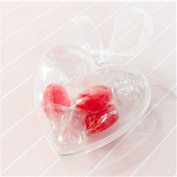 Transparent Heart Favour Boxes