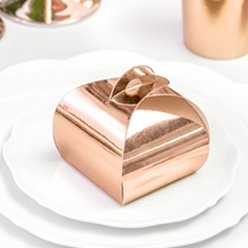 Wedding Favour Boxes Rose Gold Favour Boxes