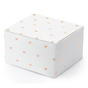 Rose Gold Heart Favour Boxes