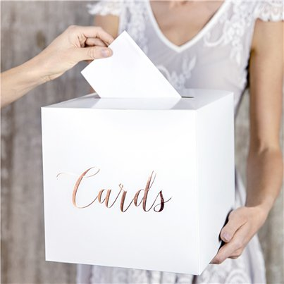 Wedding Post Boxes Rose Gold Cards Wedding Post Box