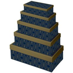 Navy & Gold Geode Gift Boxes