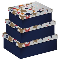 Scattered Stars Gift Boxes - 3 Pieces