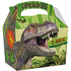 Compostable Dinosaur Party Boxes - 15cm long