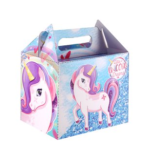 Party Box with Unicorn Design - 14cm