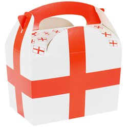 England Flag Party Box - 15cm long