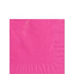 Hot Pink Beverage Napkins - 25cm