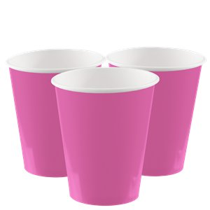 Hot Pink Paper Cups - 266ml