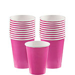 Hot Pink Cups - 266ml Paper