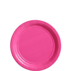 Hot Pink Plates - 18cm Paper Party Plates