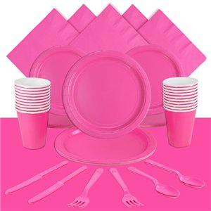 Hot Pink Party Pack For 20 People
