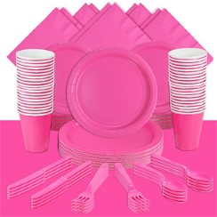 Hot Pink Party Pack For 60 People