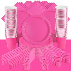 Hot Pink Party Pack For 100 People